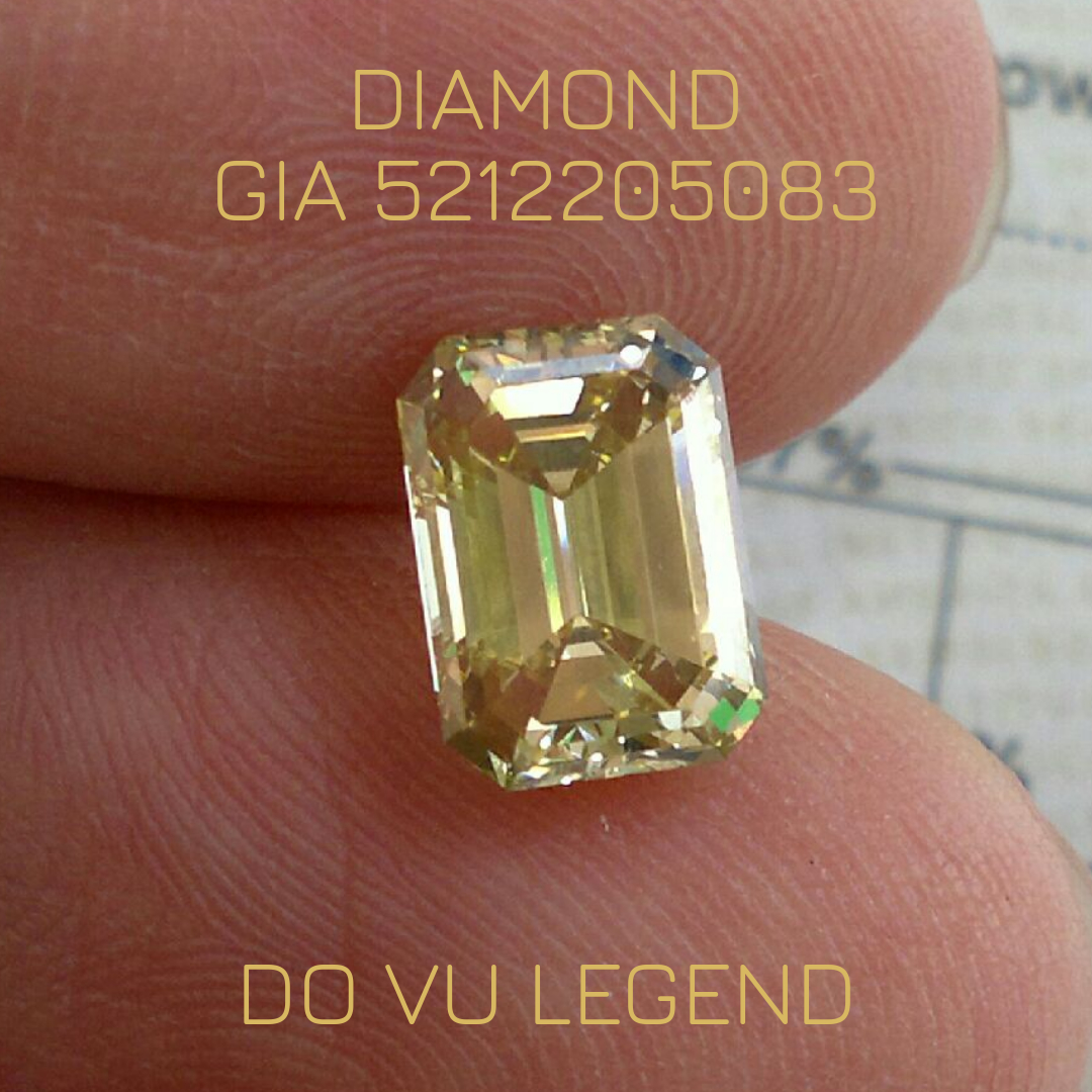 Kim Cương vàng đã kiểm định GIA 5212205083