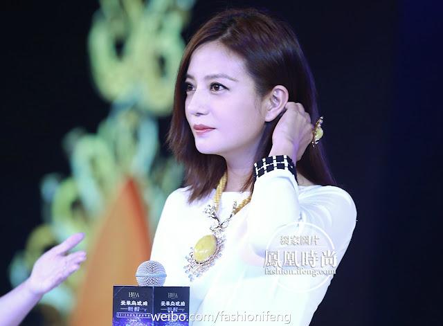 2015.09.10 [Trang sức HWSA] Triệu Vy đến Thẩm Quyến