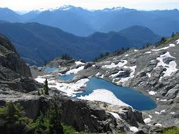 Hidden lakes in Mt Baker Wilderness.