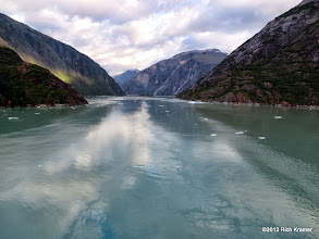 Photo: The next morning found us far up Tracy Arm Fjord.