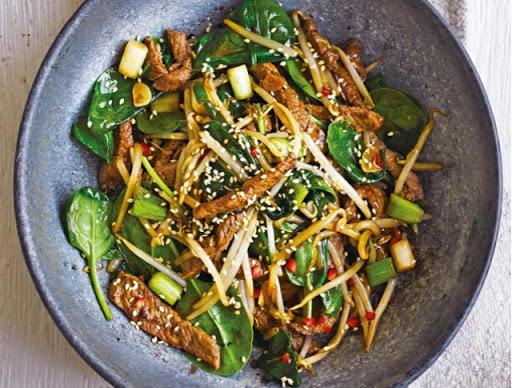 Stir-fried Korean beef