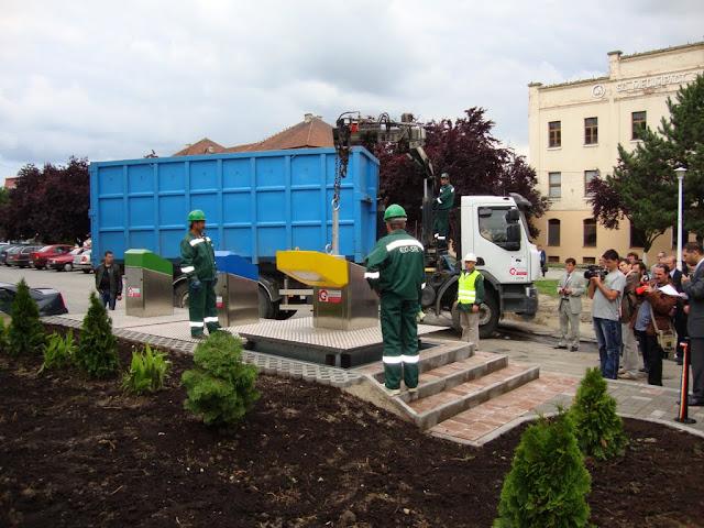 Inaugurarea, la Medias, a primului punct subteran pt. colectarea deseurilor de ambalaje din Romania - DSC06381.JPG