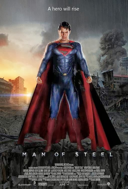 Poster Of Man of Steel (2013) Full Movie Hindi Dubbed Free Download Watch Online At Alldownloads4u.Com