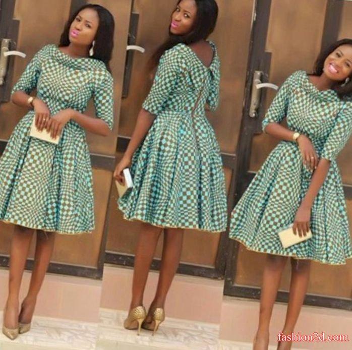 Asoebi ankara styles short gowns 2017 2018 - Fashion 2D