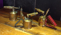 256j - Vintage brass blow torches various prices please ask.