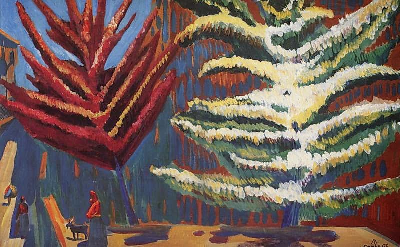 Martiros Saryan - Trees in blossom, 1910