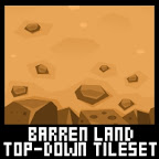 Top down game desert tileset