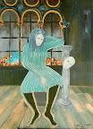019 - La Femme de Dubrovnik - 1992 100 x 73 - Acrylique sur toile