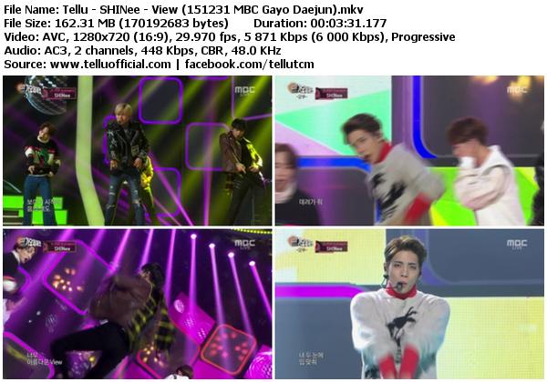 Download [Perf] SHINee – View @ MBC Gayo Daejun 151231