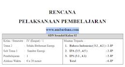 Download Silabus & RPP 1 Lembar Kelas 4 SD Tema 1 Revisi Terbaru Kurikulum 2013