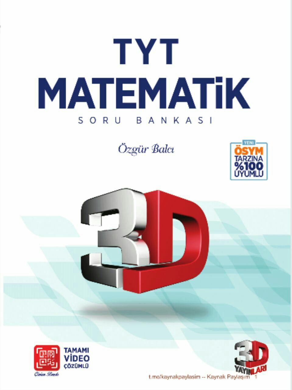 3D Yayınları TYT Matematik Soru Bankası 2019-2020