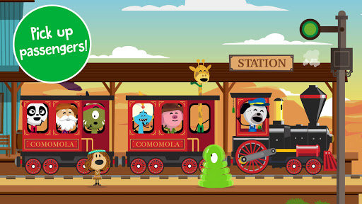 Comomola Far West Train - Railroad Game for kids! - screenshot