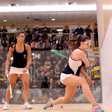 Harvard's Julianne Chu and Trinity's Karolina Holinkova