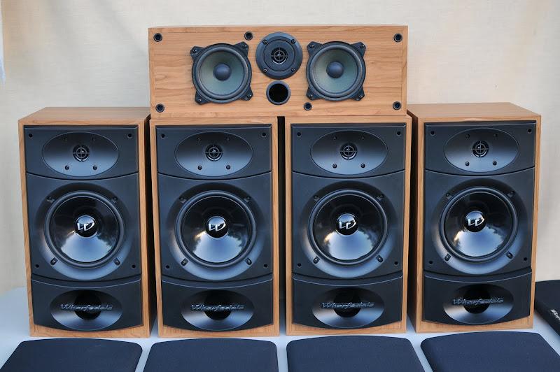 wharfedale 5 speaker valdus 200se centre se surround system ebay. Black Bedroom Furniture Sets. Home Design Ideas