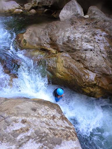 Toboggan naturel canyoning