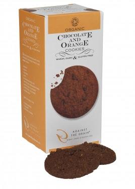 organic chocolate and orange cookies 150g