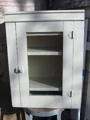 Blue Cabinet Brown Kitchen