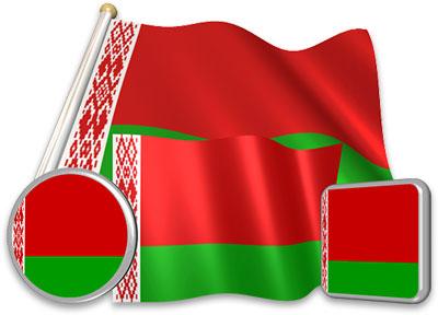 Belarusians flag animated gif collection