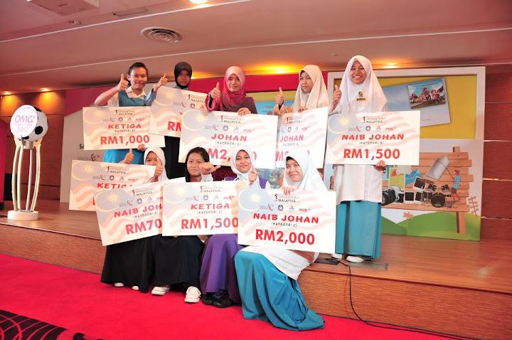 Keputusan senarai pemenang pertandingan menulis surat 1 malaysia 2012