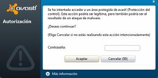 antivirus Avast Free 6 contraseña