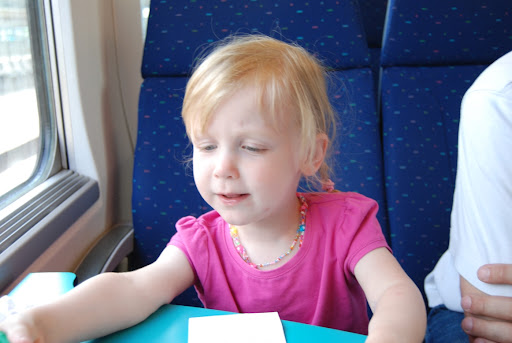 En daar zijn we geraakt met de trein! Spannend hé? :-) Meer fotootjes zijn er niet want door foutje van fototoestel zijn er paar foto