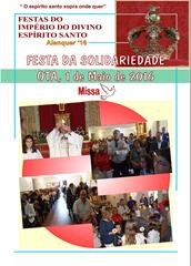 FESTA SOLIDARIEDADE OTA - MISSA