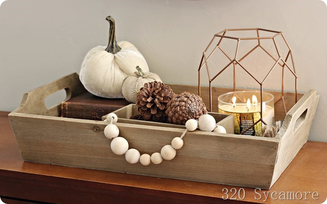 autumn decor tray