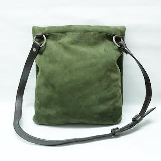 Coach Green Suede Shoulder Bag