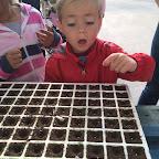 Infantil visita un semillero