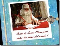 postal carta de Santa a los niñoss