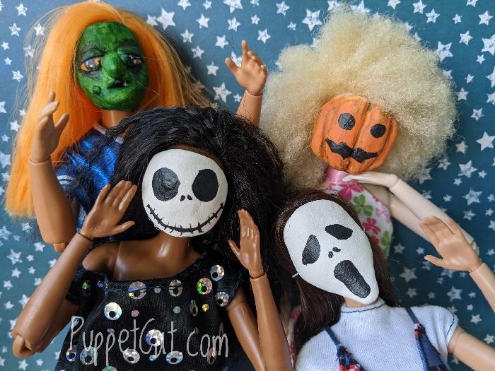 Маски для кукол на Хэллоуин