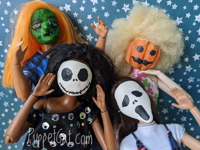 Как сделать маски для кукол на Хэллоуин