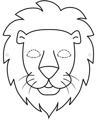 leon mascara de animales  para colorar (52)_thumb