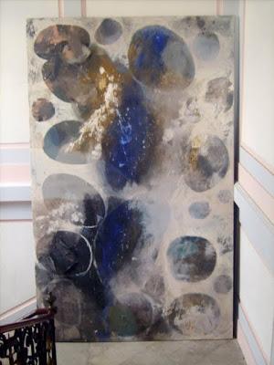 Petits univers, 1998-99 (à retoucher) 350 x 218 cm, t.m. avec collage sur toile