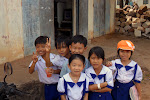 South East Asian children really seem to love white folk. Why? I'm not sure.