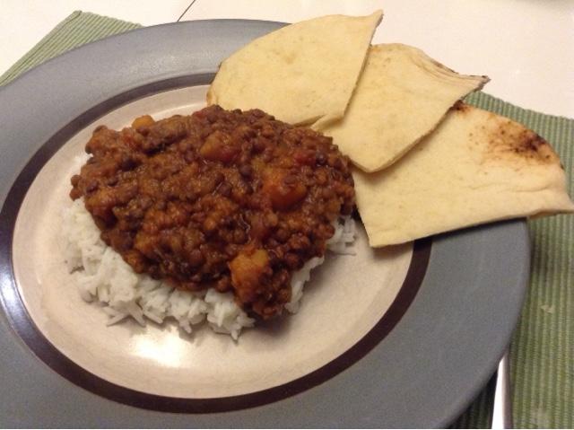 La cuisine de karyne cari de lentilles et de courge - Cuisiner lentilles seches ...