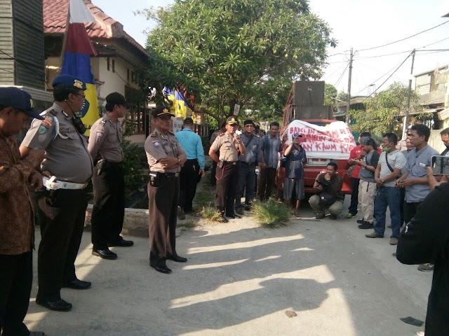 Puluhan Personil amankan demo PPDB di Babelan