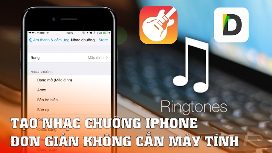 cách cài nhạc chuông cho iPhone không cần máy tính
