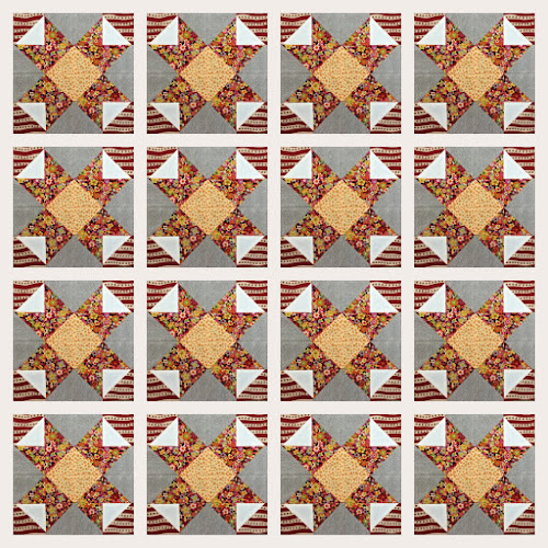 Block 14: 16 HST quilt sampler tutorial