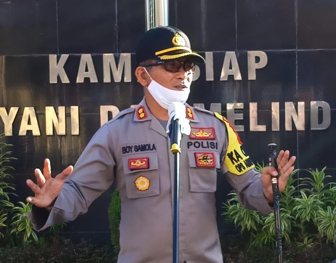 Pastikan PSBB Berjalan Aman Di Gowa, 100 Personil Pasukan Brimob Diturunkan
