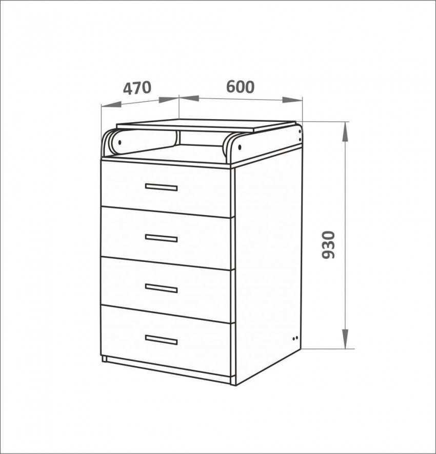 Как рассчитать комод с ящиками самому?