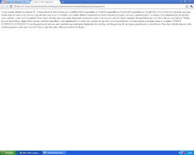 curso de html, aula1 body