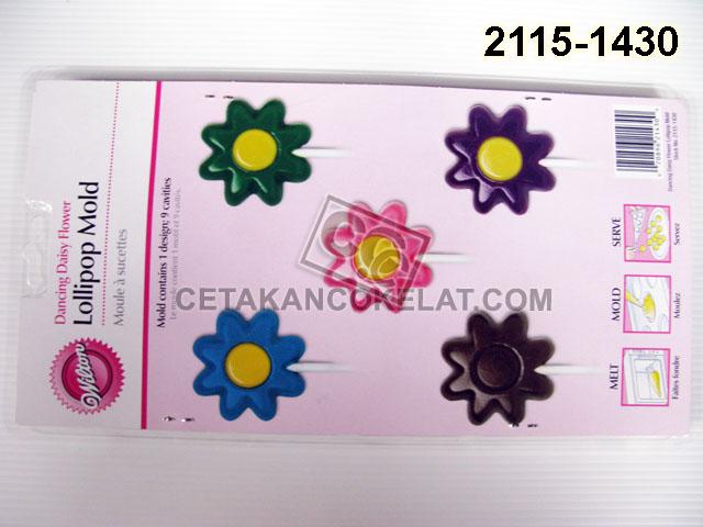 cetakan coklat cokelat wilton 2115-1430 Dancing Daisy Flower lolipop bunga