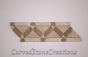 Border, Flooring, Flooring & Mosaics, Interior, Listello, Mosaic, Natural, Stone, Travertine