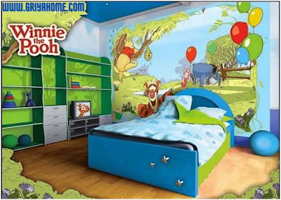 Desain kamar anak winnie the pooh