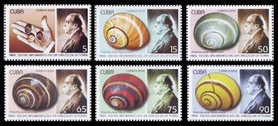 polymitas en los sellos de cuba