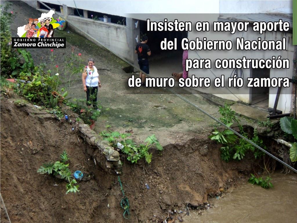 INSISTEN EN MAYOR APORTE DEL GOBIERNO NACIONAL PARA CONSTRUCCIÓN DE MURO SOBRE EL RÍO ZAMORA