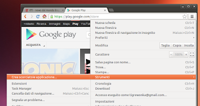 Google Chrome - crea web apps