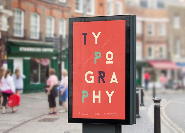 Outdoor Street Billboard PSD Mockup Template