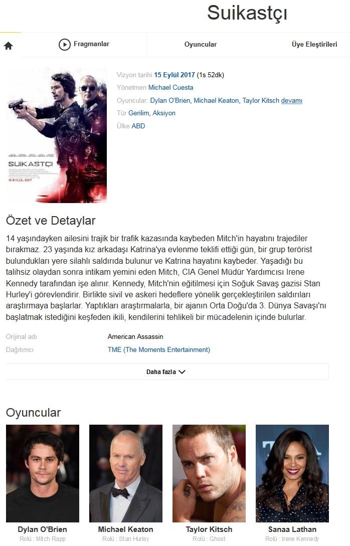 Suikastçı 2017 - 1080p 720p 480p - Türkçe Dublaj Tek Link indir